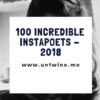 100 INCREDIBLE INSTAPOETS OF 2018: E. Tindale